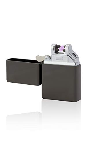 TESLA Lighter T03 Double ARC Matt Schwarz