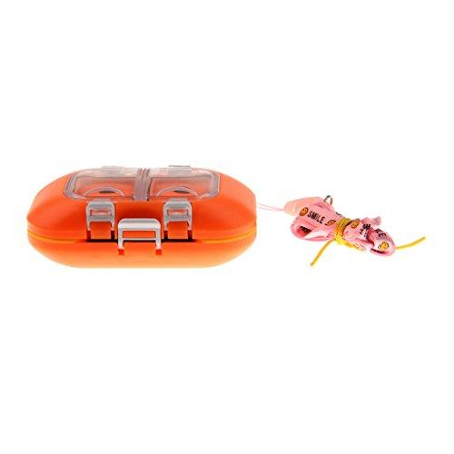 Gerätkasten Fischenködergerät Angelkoffer Angelbox Angelset Angelzubehör Box Fall Magnetisch Wasserdicht Plastikangelhaken für Angelhaken Fischhaken Orange