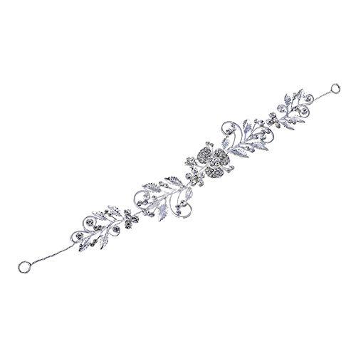 ZYCX123 Kristall Hochzeit Stirnband Silber Hochzeit Kopfschmuck für Bräute Perlen-Haar-Rebe Strass Haarschmuck