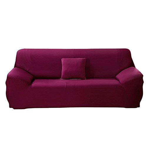 Paracity stretch della sedia a 3 posti tessuto slipcover protector poltrona, purple, 3 seater:185-230cm