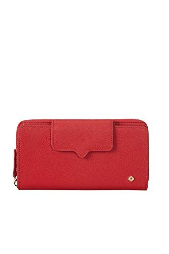 SAMSONITE Miss Journey SLG - Large Wallet for 18 Creditcards + Zip Extension Kreditkartenhülle, 0 Liter, Scarlet Red