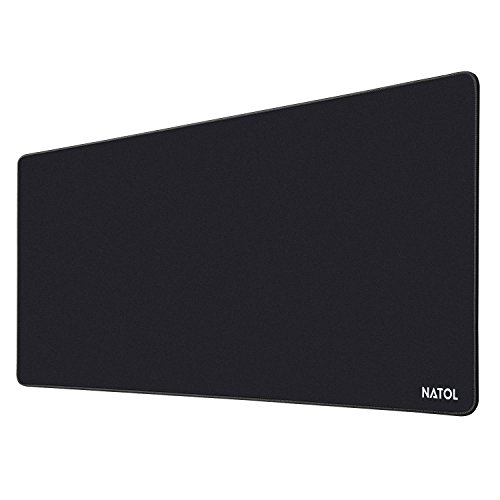 Natol gaming mouse pad, 900 x 400 mm grande tappetino mouse gaming, con superficie liscia, antiscivolo, resistente all'acqua e con base in gomma