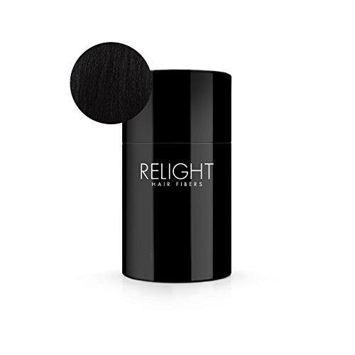 Relight Haarfasern - natürlicher Look dank natürlicher Formel. Volles Haar in Sekunden! (schwarz) Haarausfall Streuhaar …