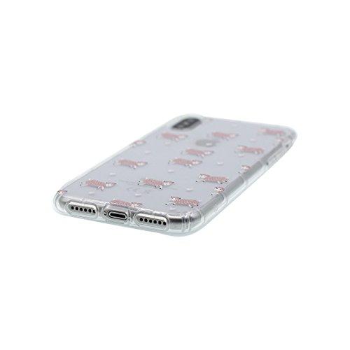 iPhone X Custodia, iPhone 10 Copertura Crystal Case gel trasparente [Slim-Fit] [Anti-Scratch] [assorbimento di scossa] [Supporta la ricarica wireless] iPhone X Copertura (fiore Margherite) # 2