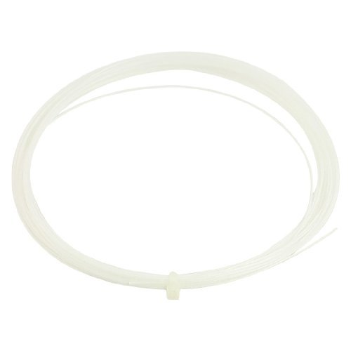 Water & Wood 0.75mm Gauge Sports White Badminton Racket Racquet String 10M