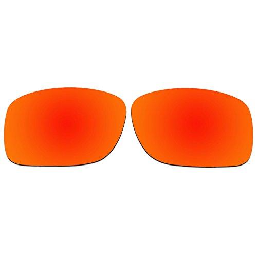 ACOMPATIBLE Ersatz Linsen für Oakley Turbine XS (Kinder), mit oj9003Sonnenbrille, Fire Red Mirror - Polarized