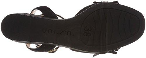 Unisa Noda_KS, Sandali con Cinturino Alla Caviglia Donna Nero (Black)