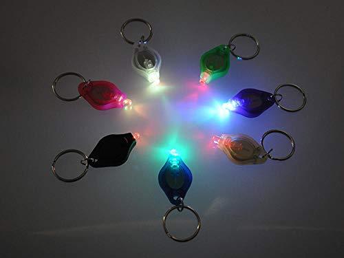 Einfacher und umweltfreundlicher Kunststoff LED-Licht Schlüsselanhänger Bunter Heller Schlüsselanhänger Unisex @ Farbiges Licht Lila Schale_41 (L) X23.5 (B) X9 (H)