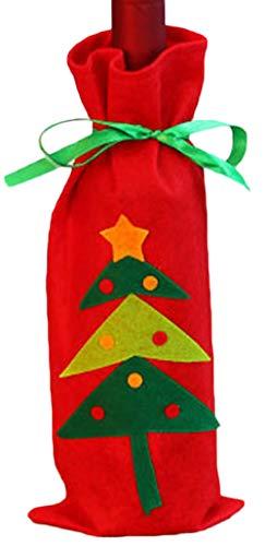 Zalock Weihnachtsdekorationen Creative Weinflasche Tasche Candy Bag Weihnachten Schön Dekoration für Festival Bankett Party Halloween Hotelrestaurant Geschenk