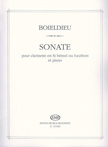 Sonate pour Clarinette en Si Bemol Ou Hautbois et Clarinette