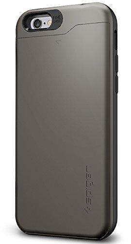 Cover iPhone 6, Spigen Cover iPhone 6S [Slim Armor CS] Angoli Tecnologia a cuscino d'aria [Gunmetal] Slim Fit Card Holder Protezione, Custodia Apple iPhone 6 / iPhone 6S (SGP10964)