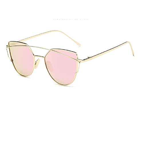0-C Unisex Moda Metal Frame Occhiali da sole polarizzati 53MM rosa Gold frame, pink lens - Nuovo Cartier Occhiali Da Sole