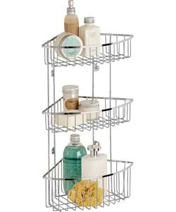 Captivating Great Value 3 Tier Wall Mounted Shower Caddy / Bathroom Storage Unit    Ideal Storage Solution