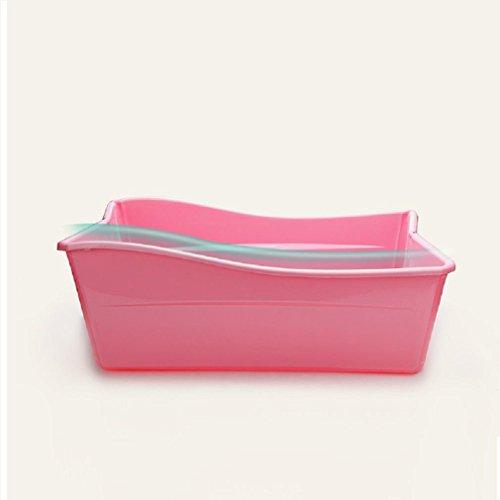 GAOJIAN Bañera de bebé plegable puede sentarse Bañistas de niños de mentir recién nacidos , pink