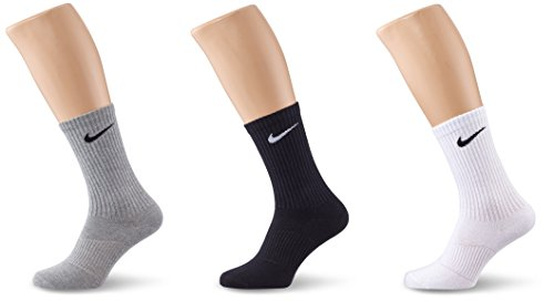 Nike 3Ppk Lightweight Crew, Calze per uomo, Grigio (Grey Heather/Black/White), talla M