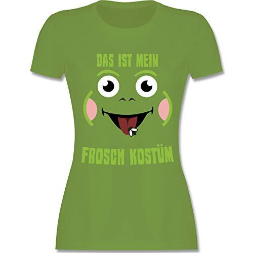 Frosch Kostüm Und Kröte - Karneval & Fasching - Das ist Mein Frosch Kostüm - L - Hellgrün - L191 - Damen Tshirt und Frauen T-Shirt