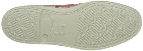 Bensimon - Tennis Lacet Broderie Anglaise, Basse Donna Rosa (Rose)