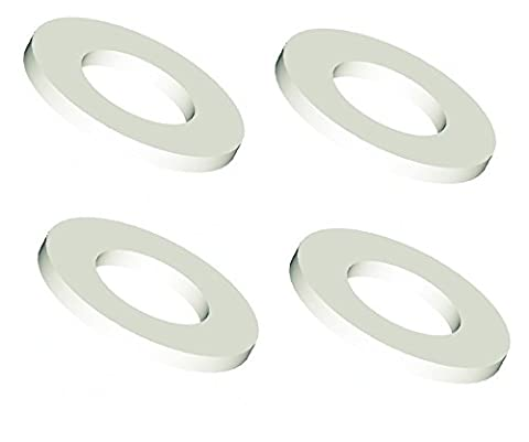 M10 White Nylon/Plastic Washer (4 Pack) Form A Nylon 66 Thick Flat Washers