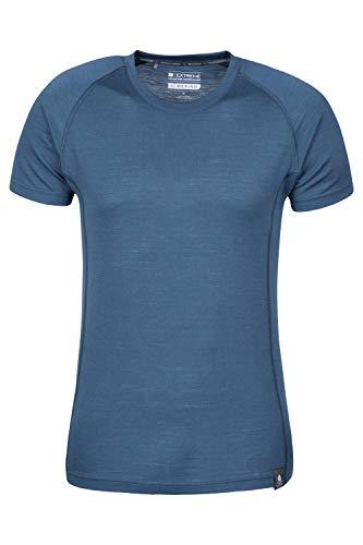 Mountain Warehouse Summit Merino Herren T-Shirt Unterhemd Thermounterwäsche Funktionsunterwäsche Ski Snowboard Winter Baselayer Marineblau Medium