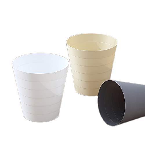 JASNO Bad Bin Rund Verdeckt Abfall Dose Plastik Papierbehälter Für Bad Küchenbüro (3 Stück)