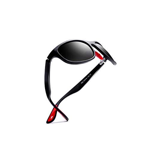 78068a9e61 kimorn Gafas De Sol Polarizado Para Los Hombres Deporte Ciclismo Marco  Ovalado Caucho Rojo Gafas De