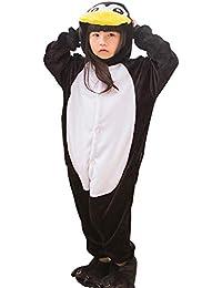 97a6cf8cbd Pyjamas Kigurumi Jumpsuit Onesie Mädchen Junge Kinder Tier Karton Halloween  Kostüm Sleepsuit Overall Unisex Schlafanzug Winter