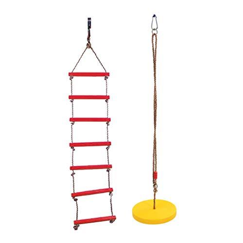 B Blesiya 2X Juguete de Niños Columpio Escaleras de Escaladas de Cuerdas de 6 Peldaños Oscilación