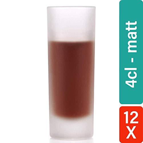 Star - bicchierini da liquore line, 4 cl, opachi, 12 pz, senza graduazione