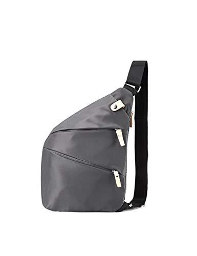 Anti-Diebstahl-Brusttasche für Männer Umhängetasche/lässig Sport Reise Fitness Umhängetasche einfache Multifunktions Umhängetasche-grey-blue