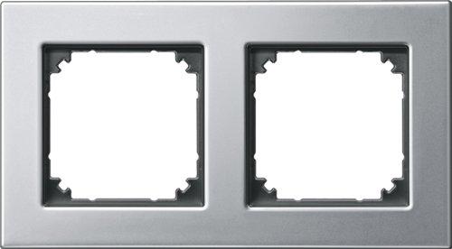 Merten 475260 M-PLAN-Metallrahmen, 2fach, Platinsilber
