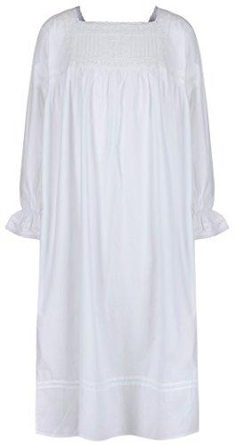 Sconosciuto The 1 for U Ragazze Camicia da Notte 100% Cotton Vintage Stile Vittoriano età 4 14 Bianche Tinta Unita Ea Age 10 12