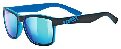 Uvex Erwachsene lgl 39 Sportbrille, black mat blue, One Size