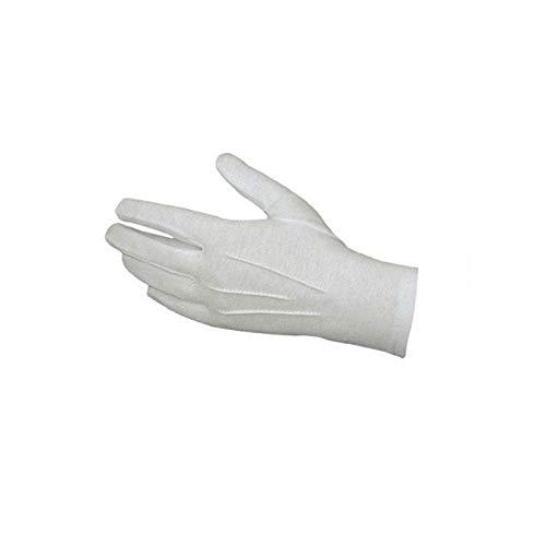 AXIANNV Weiße Formale Handschuhe Tuxedo Honor Guard Parade Santa Men Inspection Einmalhandschuhe aus Nitrillatex für ärztliche Untersuchungen, 50 Stück, (Tuxedo 4 Stück Kostüm)