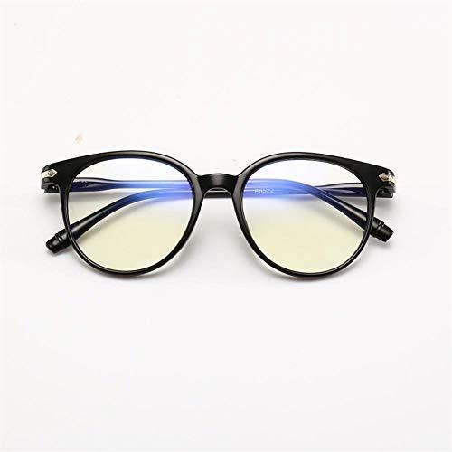 Neue Populäre Frauen-Anti-Blau-Anti-Strahlungs-Mann-Computerspielschutzgläser For Mode-Brillen (Frame Color : Black)