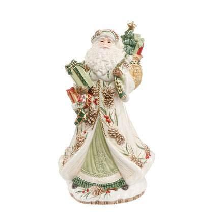 Goebel FF S SU Santa mit Geschenken grün und MW Fitz and Floyd Fitz Floyd Christmas Collection Bunt Steingut 51001201 Floyd Christmas Santa