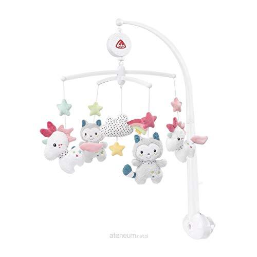 Fehn Aiko & Yuki Musik-Mobile Einhorn & Katze Spieluhr-Mobile mit niedlichen Figuren zum Beobachten, Lauschen & Staunen - Zum Befestigen am Bett für Babys von 0-5 Monaten