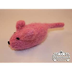 Filzmaus rosa mit Baldrian – für Katzen