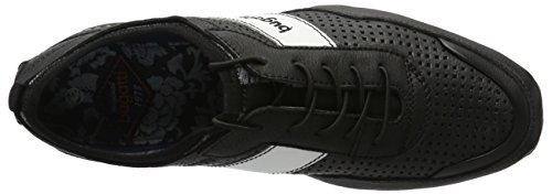 Bugatti D08021, Scarpe da Ginnastica Basse Uomo Nero (Schwarz 100)