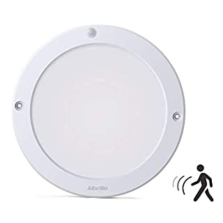 Albrillo 18W LED Ceiling Lights with Motion Sensor, Flush Ceiling Light Fittings for Doorway, Bathroom, Corridor, Hallway, 4000K Daylight White, 1300LM