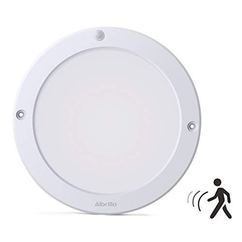 Albrillo Plafonnier LED - 18W avec Détecteur de Mouvement avec Détection infrarouge, Angle de faisceau 120°, 1300LM 4000K Blanc naturel, Lampe de plafond pour Couloir,