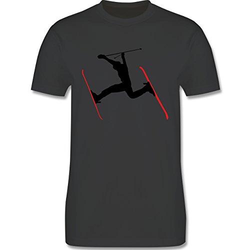 Wintersport - Skifahren Skisprung Ski - Herren Premium T-Shirt Dunkelgrau