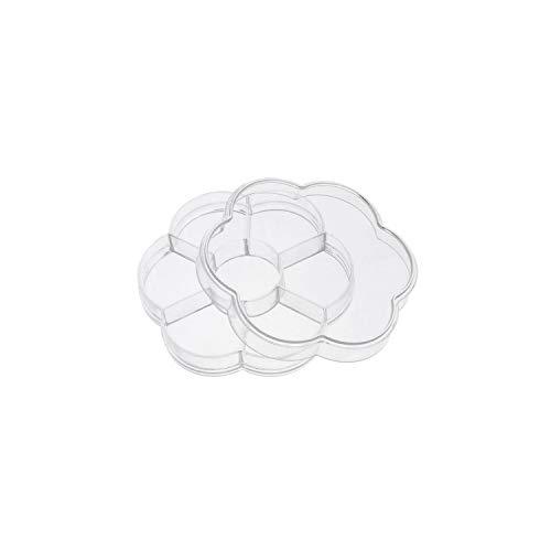 Storage Box 28 Slots Nail Art Storage Box Plastic Holder for Jewelry Rings Rhinestone Diamond Painting Organizer Transparent Display,10 Grids Round -