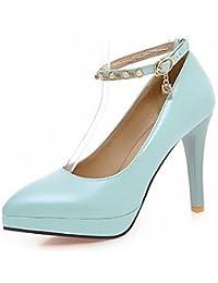 Zormey Women'S Shoes Stiletto Heel/Platform/Pointed Toe Heels Party &Amp; Evening/Dress Black/Blue/Pink/White Blue Us8 / Eu39 / Uk6 / Cn39