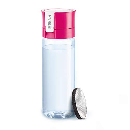 BRITA Fill&Go Vital - Botella con filtro de agua con tecnología MicroDisc, para disfrutar en cualquier lugar, botella de agua sin BPA, Color Rosa