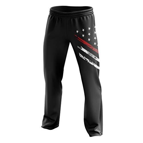 Tactical Pro Supply American Flag Sweatpants für Herren oder Damen, Workout USA Jogger Pants - schwarz - X-Groß