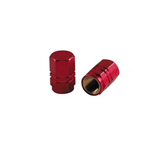 Hexagone valve caps red