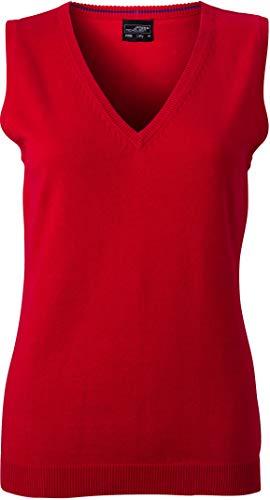 Klassischer Damen-Baumwoll-Pullunder im digatex-package M,Red