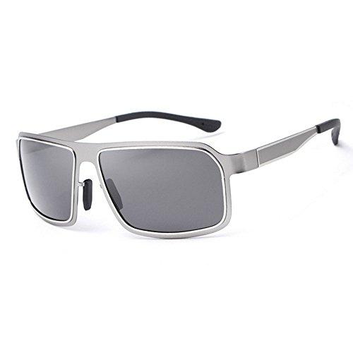 RLJJSH Sonnenbrille Teen Fashion Smoky Lens Klassische Herrenmode Sonnenbrille Polarisierter Fahrspiegel - Reduziert Blendung, 100% UV-Sonnenbrille Sonnenbrille (Farbe : Gray, größe : One Size)