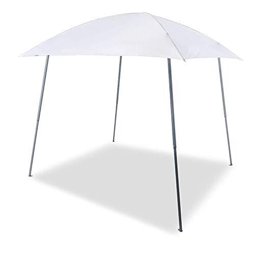 Gutgojo Verbessertes Pavillon 2.4×2.4m Faltpavillon Faltzelt Sonnenschutz Wasserdicht Gartenzelt Sehr Einfache Montage Wasser Nicht Leicht Ansammeln (Weiß)
