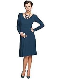 Maternity Nursing Dress - Dark Blue